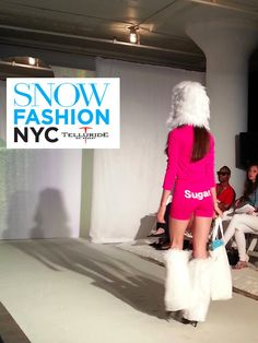 @SNOW Magazine fashion show - hot pants after a cold day on the slopes! @Snow Sugar
