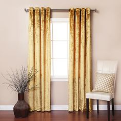 Drapes & Curtains - Best Home Fashion - Velvet Grommet Top Curtain – Oxeme Home