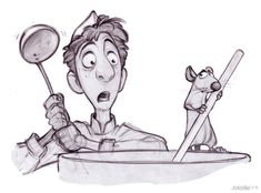 Living Lines Library: Ratatouille – Concept Art – Art Sketches Pixar Character Design, Character Drawing, Character Design Inspiration, Character Illustration, Character Concept, Illustration Art, Pixar Concept Art, Disney Concept Art, Cartoon Cartoon