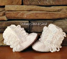 Furrylicious Boots/Uggs  012 month by Whimsystitchbysarah on Etsy, $20.00
