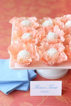 Create gorgeous flower truffles. Also check out coconut & cream cheese Bunny Tails. http://pizzazzerie.com/holidays/recipe-bunny-tail-treats/