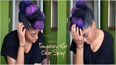 Temporary Turquoise Hair Spray/ Spray Colorant pour cheveux (turquoise) - YouTube