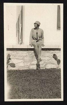 Victoria Ocampo en la casa de Pellegrini Mar del Plata1927