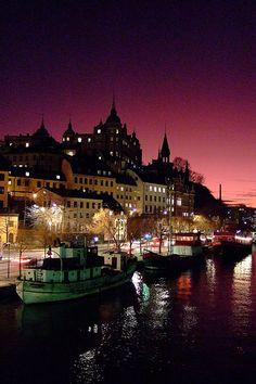 Stockholm by night - by Ola Möller, via Flickr