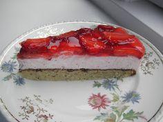 Jordbær cheesecake med mazarinbund, glutenfri