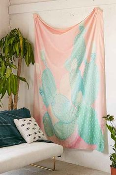 Kangarui For DENY Pastel Cactus Tapestry - Urban Outfitters