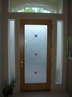 45 Ideas For Modern Front Door Design Ideas Frosted Glass Modern Front Door, Wooden Front Doors, Front Door Design, Entry Doors With Glass, Glass Front Door, Sliding Glass Door, Glass Doors, Window Glass, Frosted Glass Design