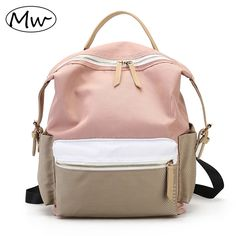 Click image to buyt  Moon Wood Fashion Patchwork Nylon Waterproof Backpack 1172308d047dc