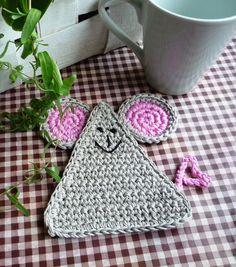 Crochet Mouse Coaster
