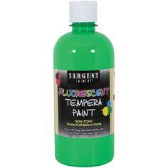 Sargent Art Fluorescent Tempera Paint 16oz-Green, Green