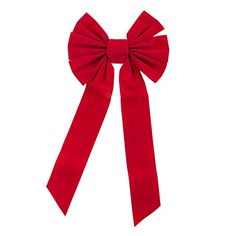 Red Velvet 7 Loop Bow for Wreath Decorations Gifts  Presents Wrapping Hanging Door Decor with Wire Christmas Party Supply 10 x 12 Inches by Super Z Outlet * You can get additional details at the image link.