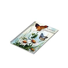 Notebook designed for the Easter season. Send them back to school in style.