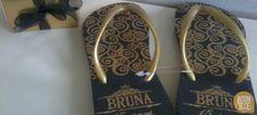Chinelo personalizado - Bruna 15 anos - desenvolvido para Acontece Cerimonial