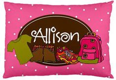 This pillowcase is perfect for sleep away camp!  Available at www.morethanpaper.com.