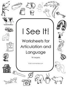 free articulation worksheets p,t,k,g,f,s,z, s-blends, j