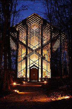 Thorncrown Chapel in Eureka Springs #Arkansas - I would love to see this in person.