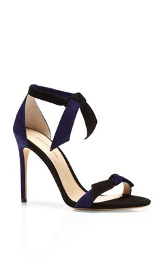 Ladylike Two-Tone Suede Sandals by Alexandre Birman