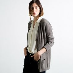 The Slouchy Cardigan Taupe – Everlane