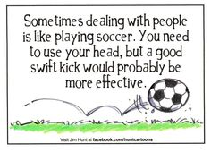 People and soccer