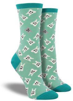Everyone needs a pair of teeth socks, right? #DentalFun