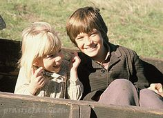 Grace and James from Little House on the Prairie (behind the scenes)