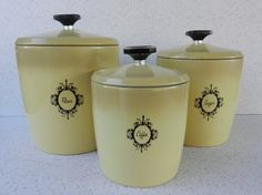 Three Mid Century West Bend Aluminum Canisters by VarietyRetro