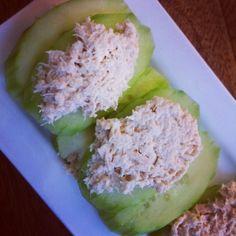 Breadless Cucumber Sandwich Bites
