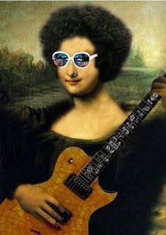 Playing electric guitar !!