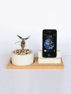 Concrete Planter iPhone Dock