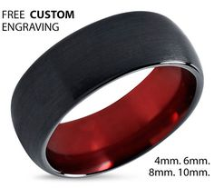 Tungsten Ring Mens Black Red Wedding Band Tungsten Ring Tungsten Carbide 8mm Tungsten Man Wedding Male Women Anniversary Matching Size  B. •:*¨`*:•E.•:*¨`*:•L.•:*¨`*:•L.•:*¨`*:•Y.•:*¨`*•:*¨`*:•S.•:*¨`*:•S.•:*¨`*:•A  Luxury Blue Tungsten Carbide Mens Wedding Band Ring in Comfort Fit and brushed and polished finish. Tungsten carbide is roughly 10 times stronger than gold and 4 times stronger than titanium. Tungsten carbide will not scratch or fade under normal wear. Tungsten rings are Cobalt…
