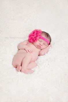 Newborn Headband... Baby Girl... Couture Headbands... Baby Headbands via Etsy