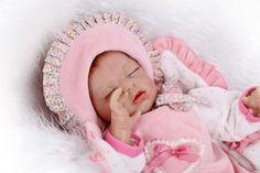 81.03$  Buy now - http://ali5t2.worldwells.pw/go.php?t=32575865800 - Silicone reborn sleeping baby dolls newborn babies poupee reborn  baby alive bonecas children toys