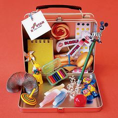 Wedding Welcome for kiddos! Kids will love this handy little metal lunchbox filled with candy and activities.
