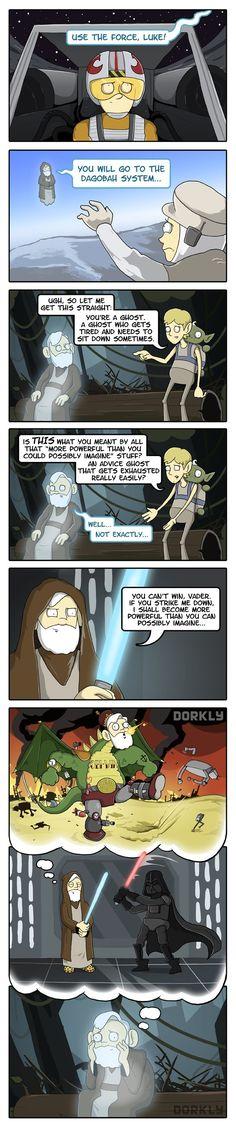 The Many Regrets of Obi-Wan Kenobi - Dorkly Comic