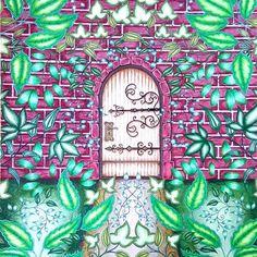 Johanna Basford | by Emily L. | Colouring Gallery - Secret Garden - secret door