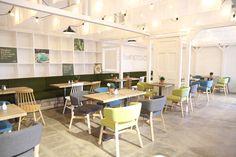 The fabulous new 'Street Kitchen' seating area