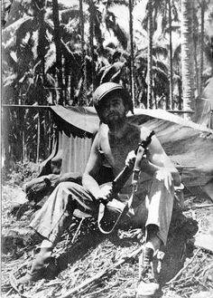 Jim Goodin on Guadalcanal during WWII. He was with the 1st Marine Division. Originally he was a high altitude parachutist. He got malaria 36 times. December 1942