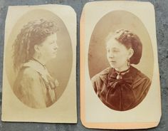 Two 1880's CDV Photos of Pretty Women with door thecaravancollection, $6,95