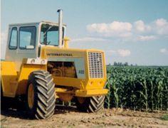 Yellow International Tractor