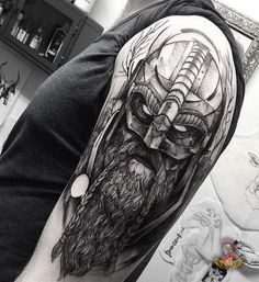 10 Viking and their meanings Let's not talk about any hero or their outstanding achievements today. BaviPower today would like to share with you the meanings of some Viking Tattoos which we hope may inspire you. Helm Tattoo, Viking Tattoo Sleeve, Stag Tattoo, Norse Tattoo, Sleeve Tattoos, Tattoo Art, Berserker Tattoo, Valkyrie Tattoo, Dragon Tattoos For Men