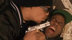 Ice-T and Chris Rock in New Jack City