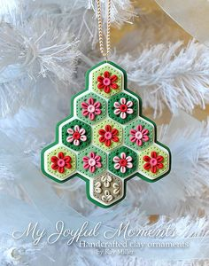 Handcrafted Polymer Clay Christmas Tree Ornament