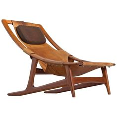 Arne Tidemand Ruud 'Holmkollen' Lounge Chair for Norcraft | From a unique collection of antique and modern Lounge Chairs at https://www.1stdibs.com/furniture/seating/lounge-chairs/.