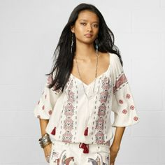 Denim & Supply Ralph Lauren Embroidered Peasant Top on shopstyle.com
