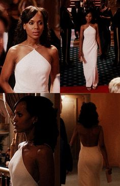 Olivia Pope gown- She is killing it Olivia Pope white Dress http://www.allthingsoliviapope.com