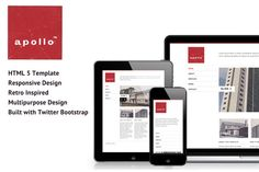 Check out Apollo Bootstrap Theme by Thrift and Thistle on Creative Market