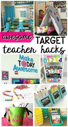 I'm so excited to try these Target teacher hacks! The tips will work great in the kindergarten and first grade classroom. Teacher Classroom Supplies, Classroom Hacks, Classroom Organisation, New Classroom, Special Education Classroom, Teacher Organization, Teacher Hacks, Kindergarten Classroom, Classroom Setup