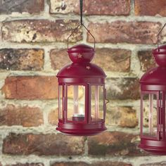 IKEA - VINTERFEST, Lantern for tealight, indoor/outdoor red, Perfect for hanging at festive occasions to set that extra party mood. Suitable for both indoor and outdoor use. At Home Furniture Store, Modern Home Furniture, Ikea Outdoor, Indoor Outdoor, Ikea Candles, Tea Lights, Wall Lights, Ikea Family, Pretty Lights
