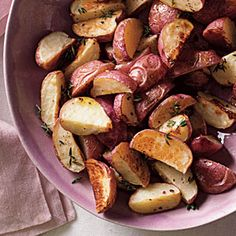 Truffled Roasted Potatoes  - Cooking Light - would make again.  Just bought red potatoes and quartered.
