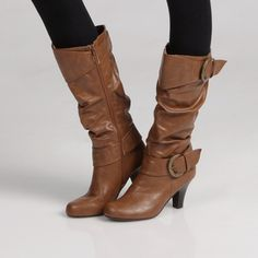 @Overstock - A side zipper closure with decorative buckle accents complements the classic look of these Madden Girl riding boots. These boots are styled with a round toe and a stacked 3-inch heel.http://www.overstock.com/Clothing-Shoes/Madden-Girl-Womens-Pepperrr-Riding-Boots/6706655/product.html?CID=214117 $47.99